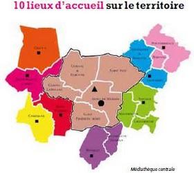image : Carte des bibliothèque de Mont de Marsan Agglo